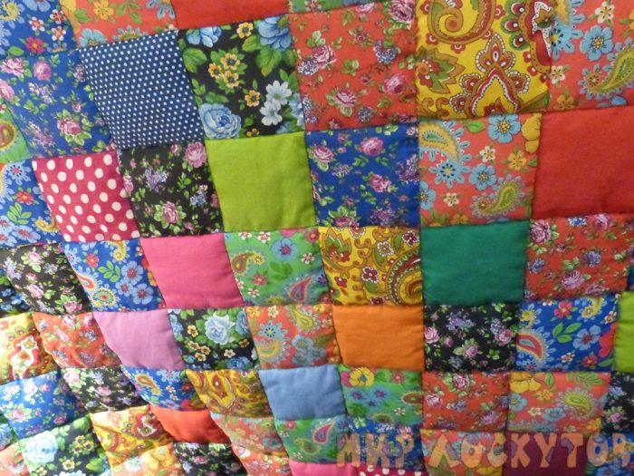 """Лоскутное одеяло """"Случайный цвет"""" за 30 минут!"""